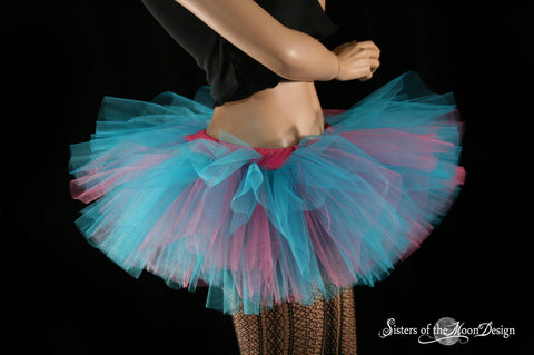 Cotton Candy adult tutu Peek a boo mini micro skirt ballet bellrina dance costume derby