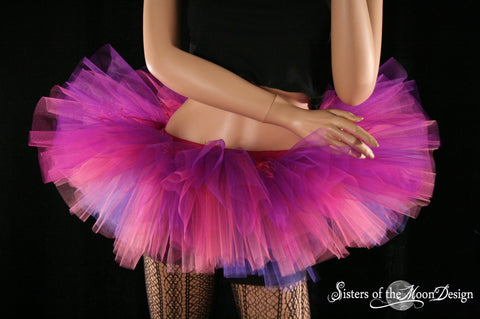 tutu skirt Adult Cheshire cat inspired Peek a boo mini micro costume halloween gothic dance ballet -You Choose Size halloween dance