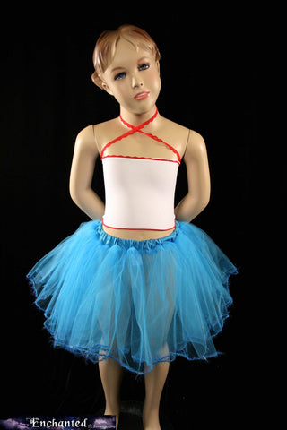 Turquoise trimmed dance tutu skirt Child- 2T-6T--Grow with Me