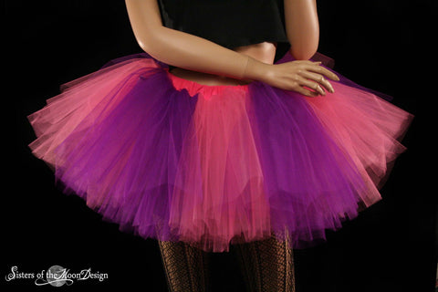 Monster tutu skirt adult extra puffy dance pink and purple ballerina petticoat roller derby--You Choose Size -- Sisters of the Moon