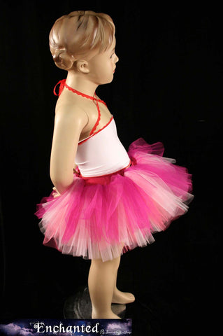 Rose Fairy Peek a boo tutu skirt mini Mixed Pinks Child_Teen --Grow with me