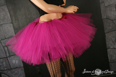 Fuchsia petticoat adult tutu dance skirt Extra puffy three layer dance costume petticoat race run