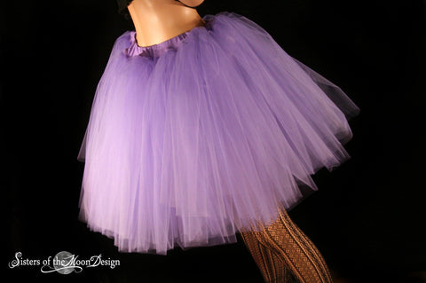 Light Purple Romance dance tutu  tulle skirt extra poofy knee length Adult bridal petticoat costume