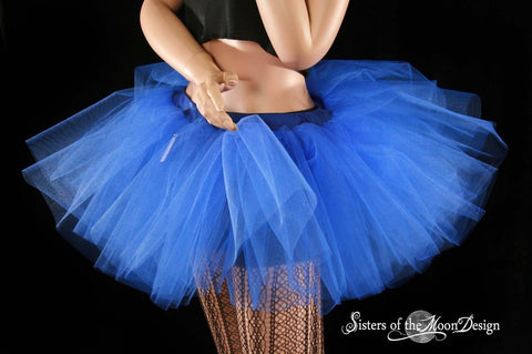 Royal Blue adult tutu skirt petticoat dance roller derby costume race run halloween wonder woman --You Choose Size -- Sisters of the Moon