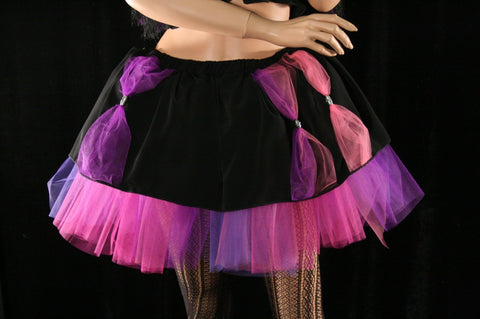Every ones Mad Here Tutu skirt Adult pink purple halloween costume dance alice cosplay