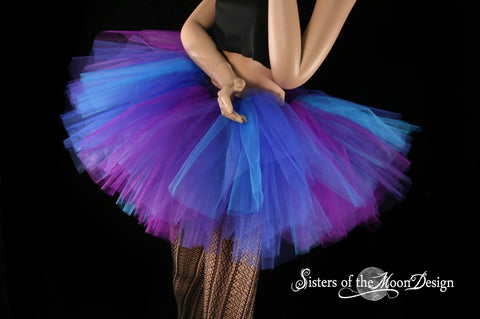 Butterfly tutu skirt Extra puffy purple and blue adult roller derby halloween costume gogo dance rave