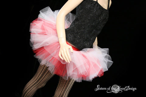 Candy Cane tutu skirt Adult Peek a boo mini red and white costume christmas dance