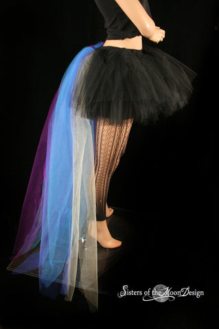 Peacock bustle black tutu skirt extra poofy Adult halloween costume dance gothic  --You Choose Size -- Sisters Of the Moon