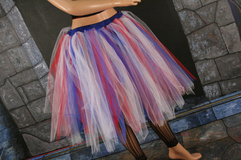 red white and blue tutu skirt adult july 4th celebrate costume dance