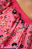 tutu Adult Pink Flower mini skirt pink and black kawaii  -- You choose size -- Enchanted