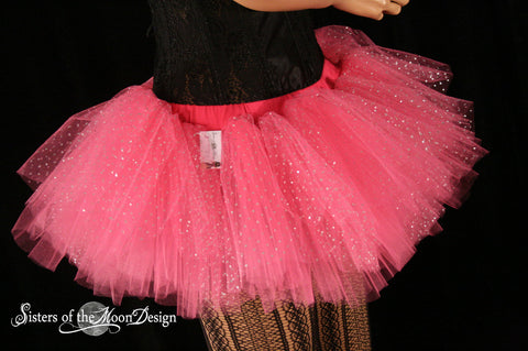 Princess sparkle Adult tutu Mini All pink Peek a boo style skirt dance costume roller derby