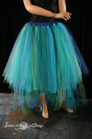 Mermaid Dancer formal adult tutu skirt Wedding bridal bustle back extra poofy trail costume prom
