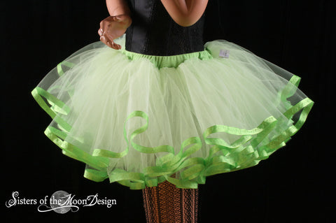 Lime Crime tutu petticoat skirt adult lime with apple trim Halloween costume extra poofy carnival