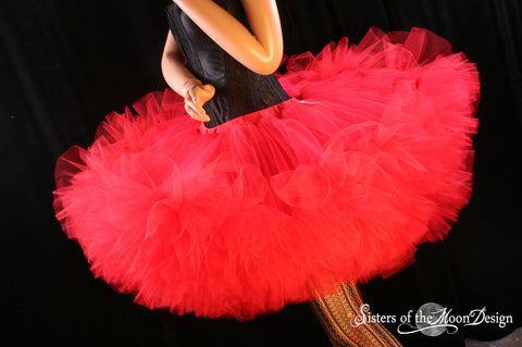 red petticoat dance tutu adult huge puff wedding party