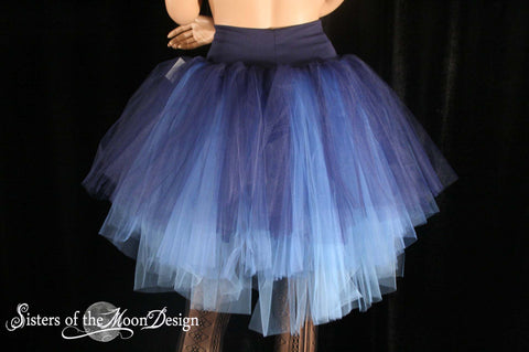 Three Layer Petticoat adult tutu skirt dreaming midnight gothic dance costume wedding formal costume - You Choose Size - Sisters of the Moon