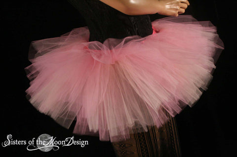 Paris pink and peach Adult tutu skirt Mini micro Peek a boo style dance roller derby costume runner