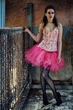 Streamer adult tutu skirt princess pink halloween costume knee length dance halloween dress up --You Choose Size -- Sisters of the Moon