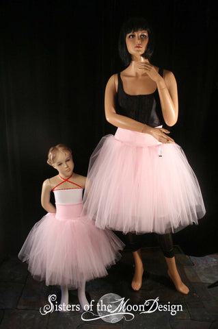 Mommy and me matching tutu skirts adult child Victorian Romance Tutu skirt knee length set pair bridal -You Choose Size- Sisters of the Moon