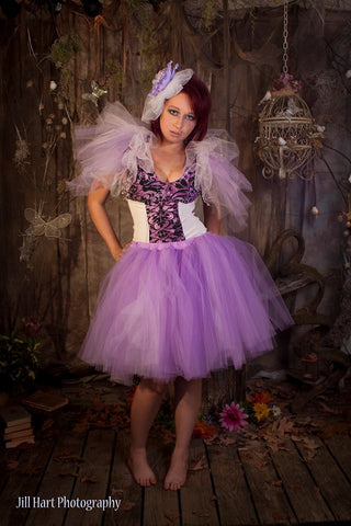 Romance adult tutu skirt knee length ultra poofy petticoat costume dance bridal wedding purple formal --You Choose Size- Sisters of the Moon
