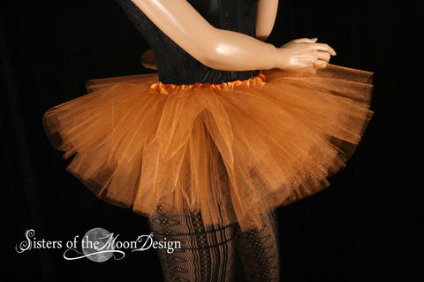 Mini micro tutu skirt copper glimmer dance costume roller derby gogo dancer race run teen child girls