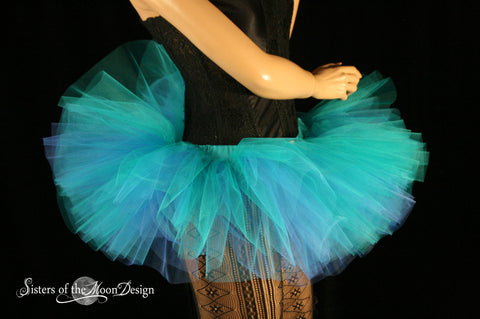 Adult tutu Mini Blues Peek a boo style skirt dance costume roller derby race run costume gogo