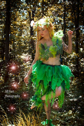Absinthe Fairy Pixie Adult skirt woodland nymph ren faire green costume fae faerie festival Dance
