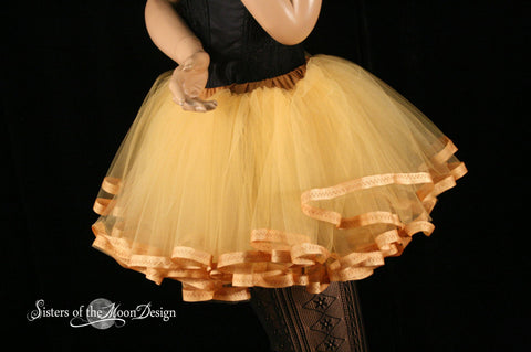 Butter Cream Adult tutu skirt petticoat trimmed costume extra poofy carnival petticoat bridal dance