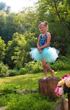 trashy aqua blue child tutu fairy dance fantasy dress up style short