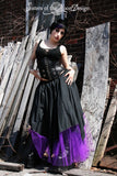 Custom Color Gothic handkerchief style long skirt vampire skirt