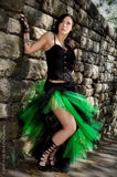 Sexy Gothic Flamenco Skirt with tulle trim short to long formal dance -- You Choose size -- Sisters of the Moon