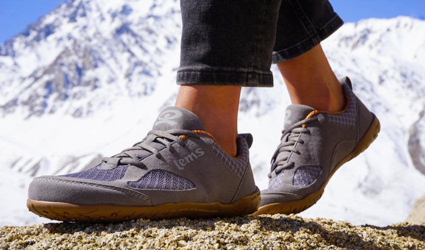Lems Primal 2 Slate shoes are an example of foot-healthy footwear to help address crooked toes