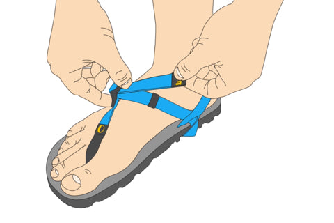 How to Adjust Luna Sandals Performance Laces