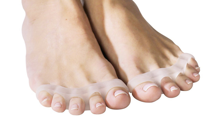 A close-up view of Awesome Toes, another brand of toe spacers