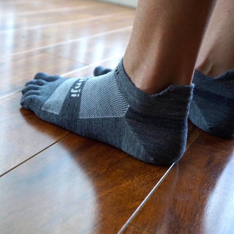Injinji LW No Show Wool Charcoal