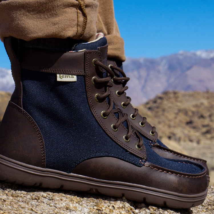 Lems Boulder Boot Nylon Navy Stout (Women's)