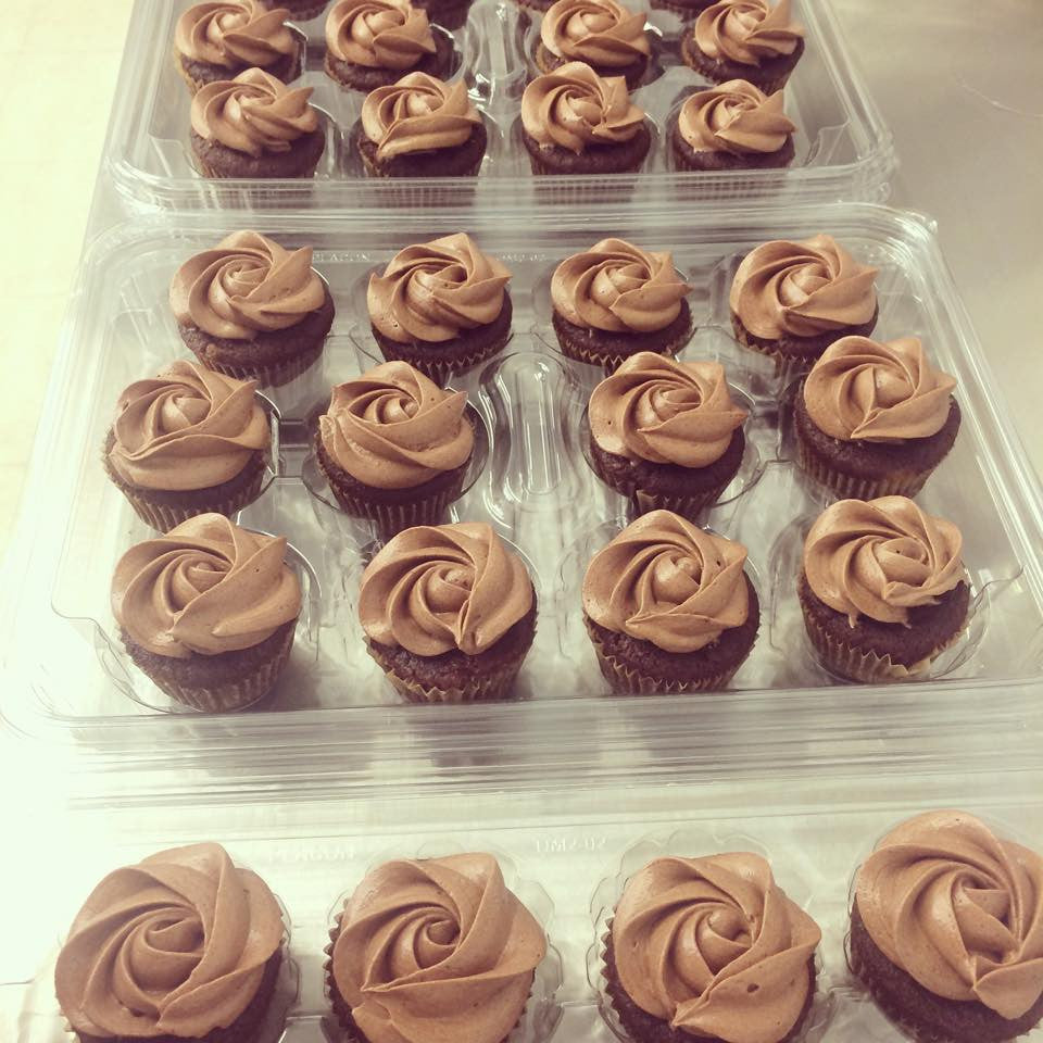 Chocolate Mini Cupcakes with Assorted Frostings