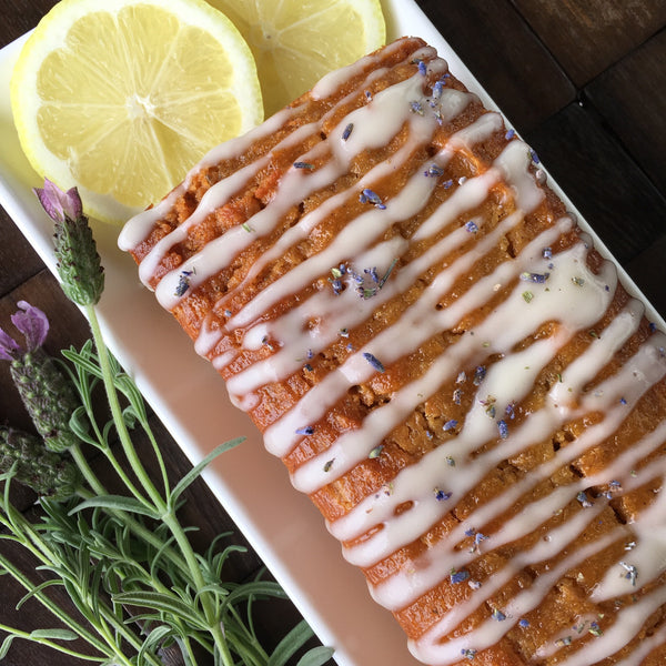 Lemon-Lavender Pound Cake Slices