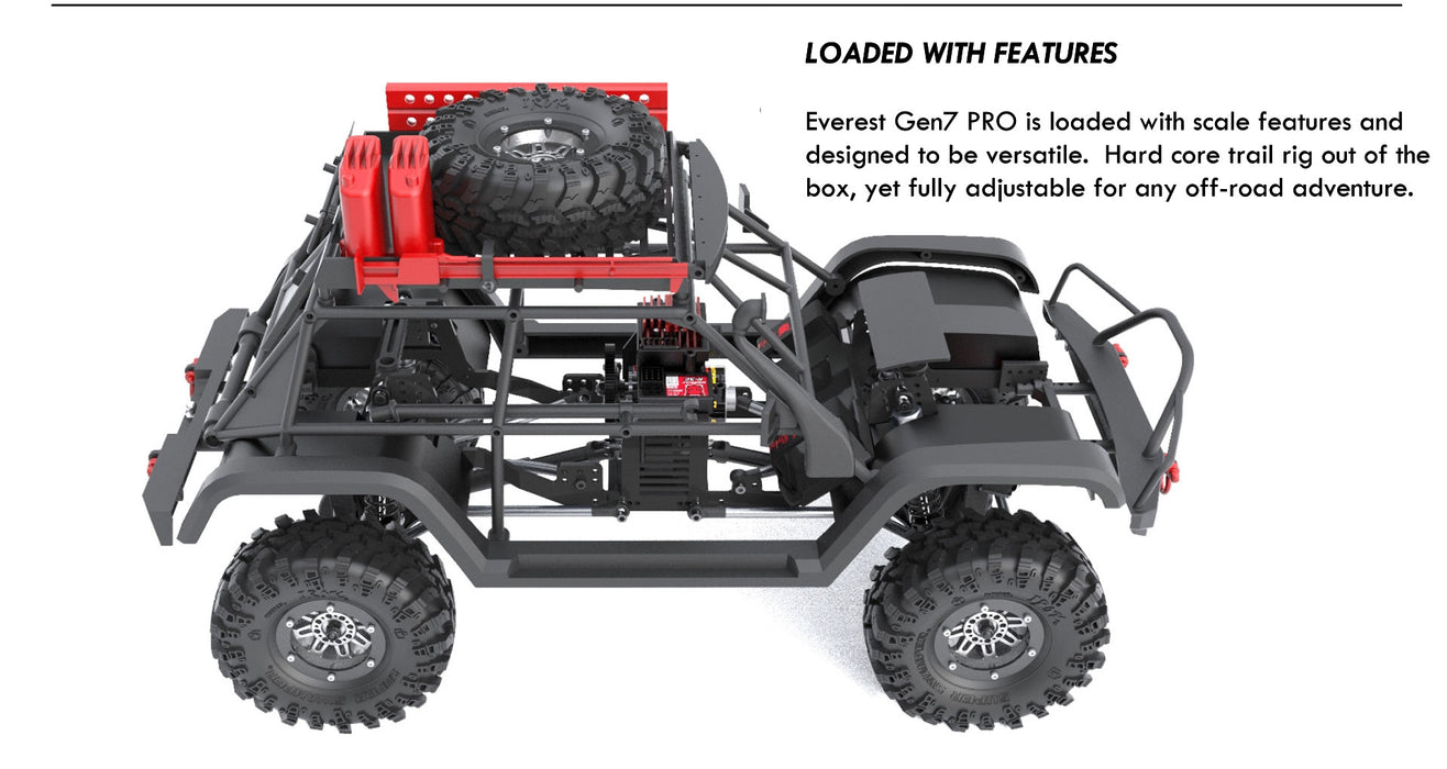 Redcat Racing Everest Gen7 Pro 1/10 Scale Off Road Scale Black Truck