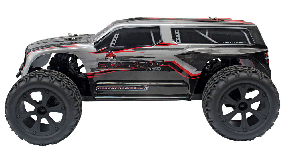 Redcat Racing Blackout XTE Pro 1/10 Brushless Electric Monster Truck SUV Silver/Red