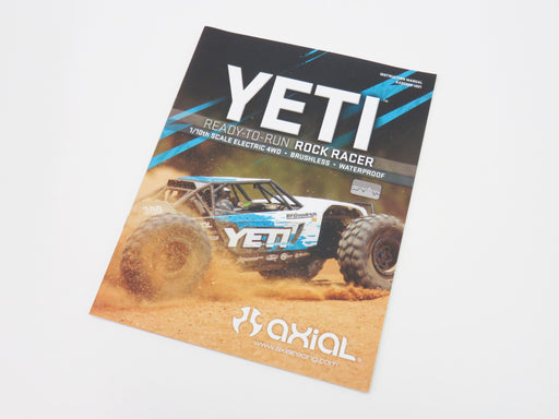 Axial Yeti 1/10 Instruction Manual Parts Manual AX90026