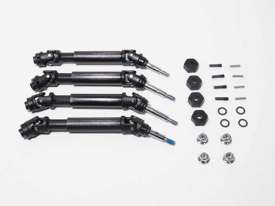 Traxxas Slash 4x4 Front & Rear Drive Shafts Axles Hexes Wheel Nuts