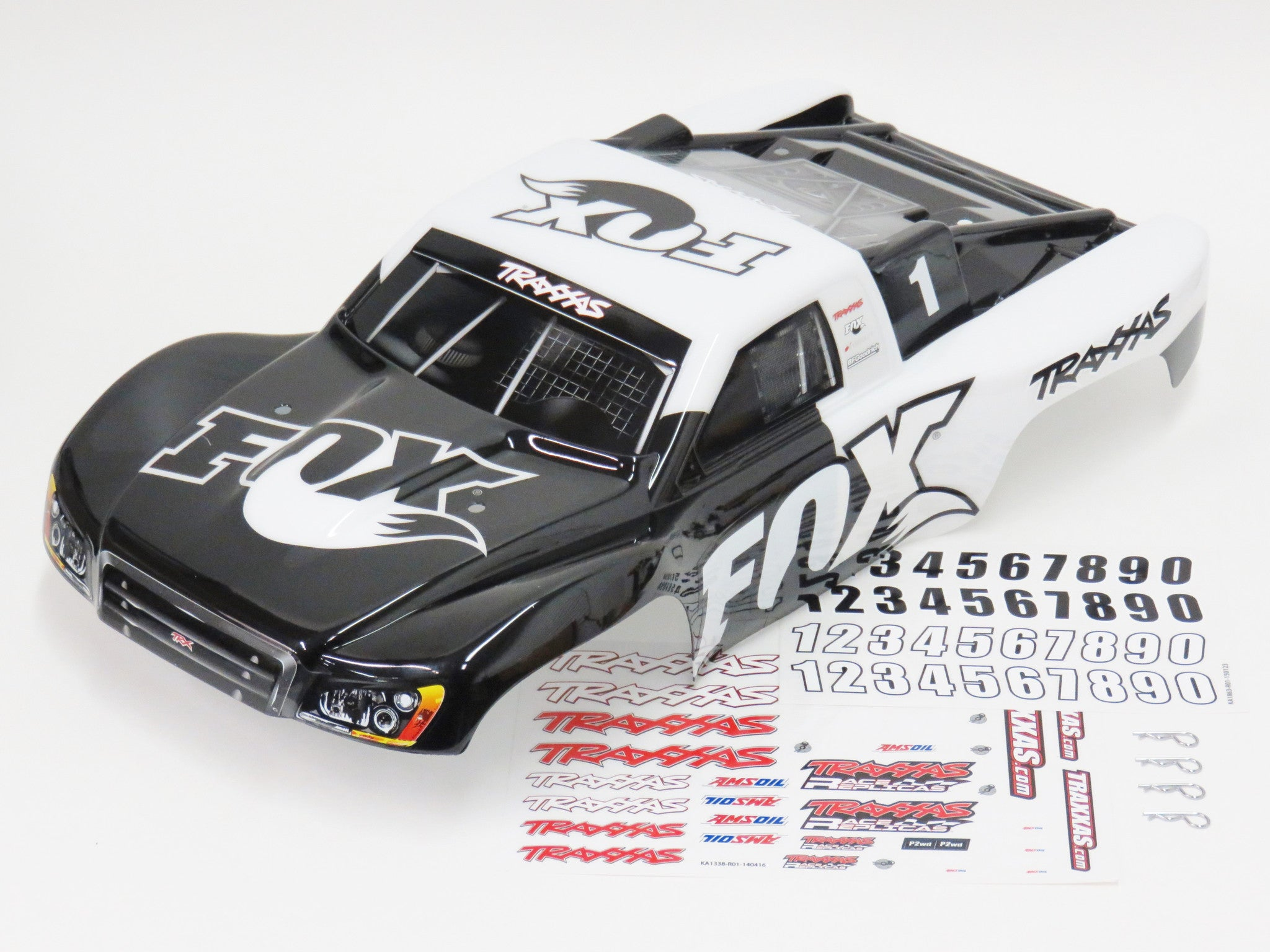 Traxxas Slash 4x4 Fox Body With Decals & Body Clips