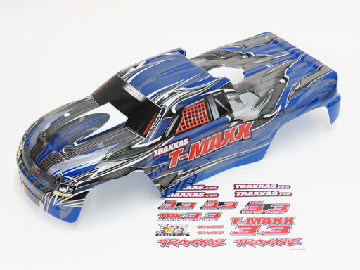 Traxxas T-Maxx 3.3 4907 Blue & Grey Painted Body With Decals