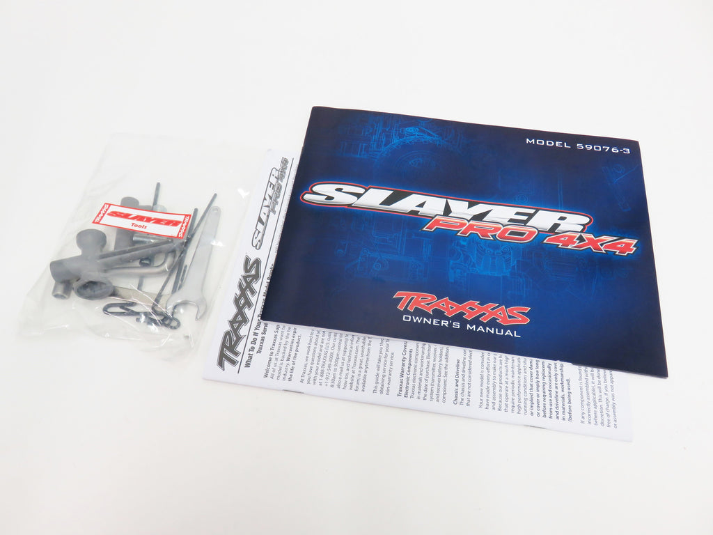 Traxxas Slayer Pro 4x4 Owners Manual & Tool Kit 5907