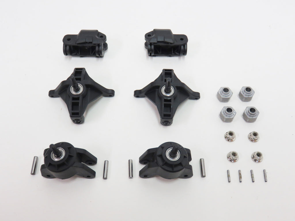 HPI Savage XS Flux Mini Ford Raptor Front & Rear Axle Carriers Bearings Axles