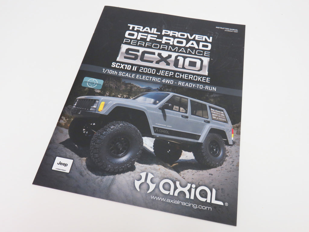 Axial SCX10 II Owners Manual Instruction Manual AX90047