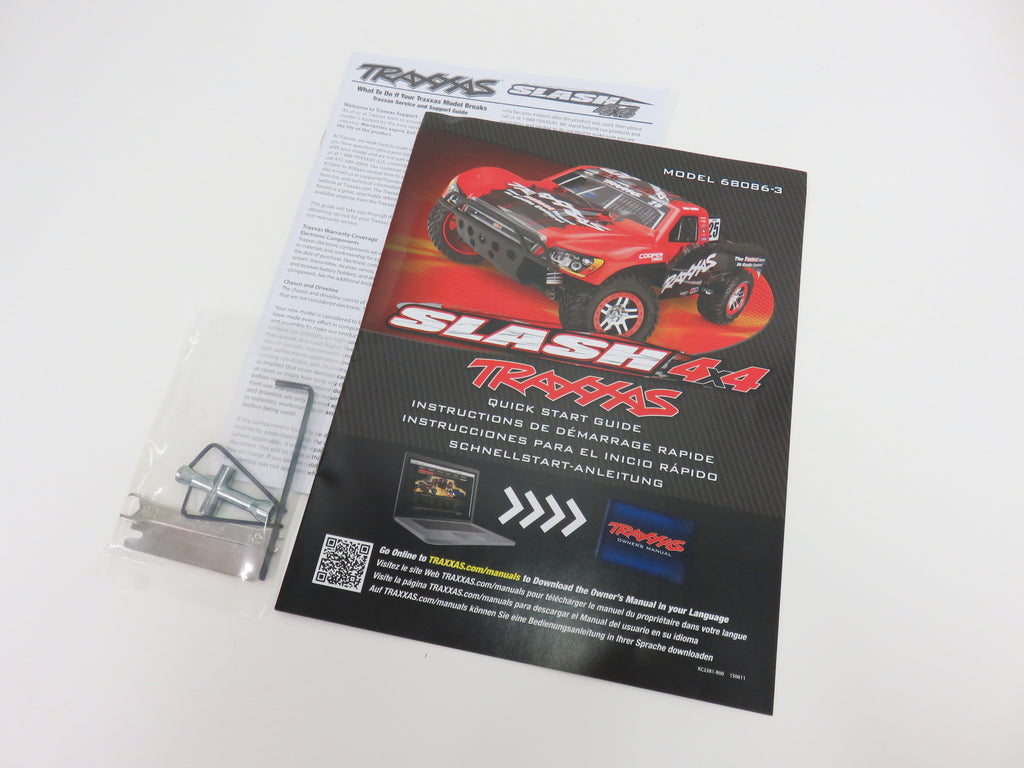 Traxxas Slash 4x4 Owners Manual Instruction Manual & Tool Kit 6808