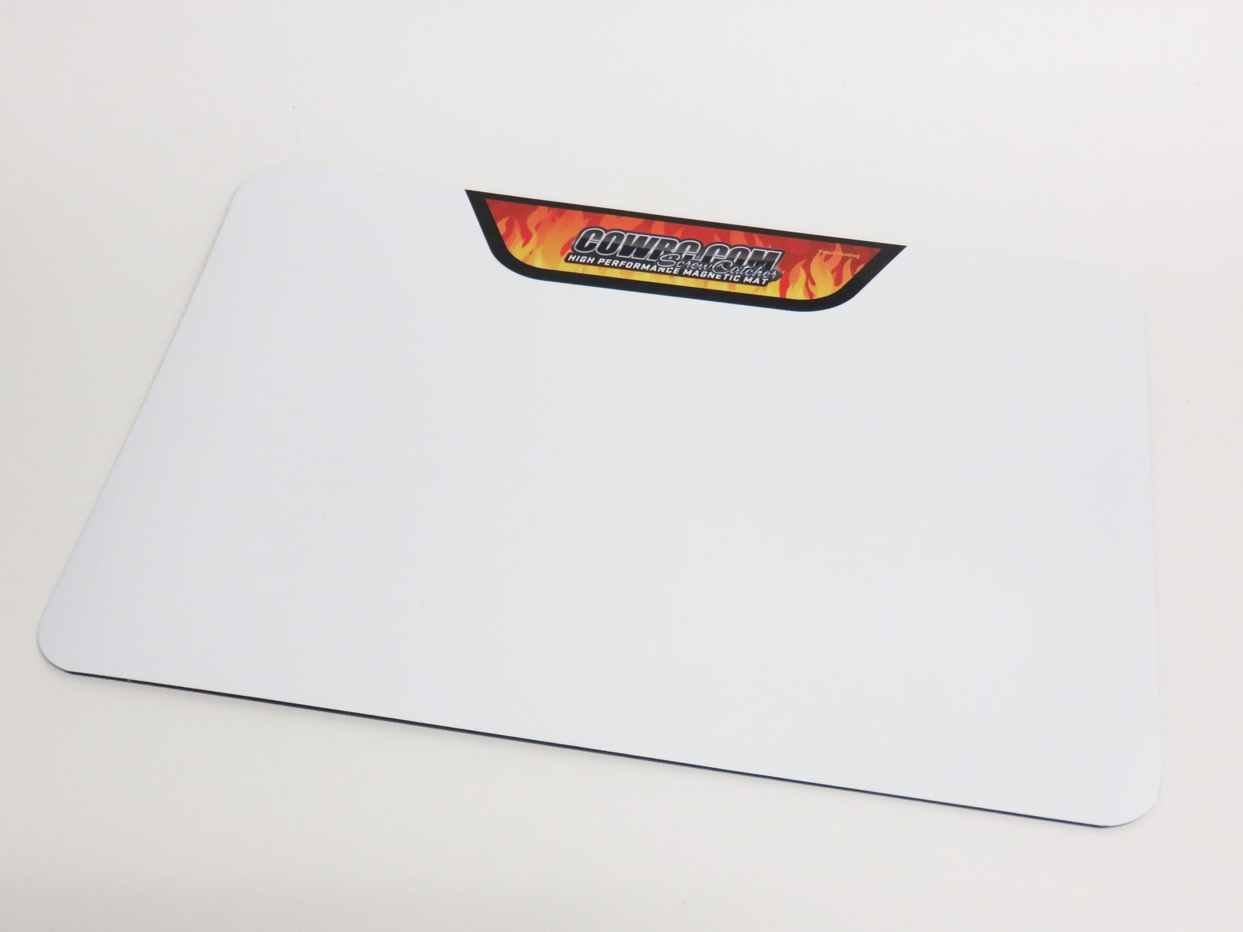 CowRC Pro Mag Medium Screw Catcher Flat Mat 12x18 With Flame Decal