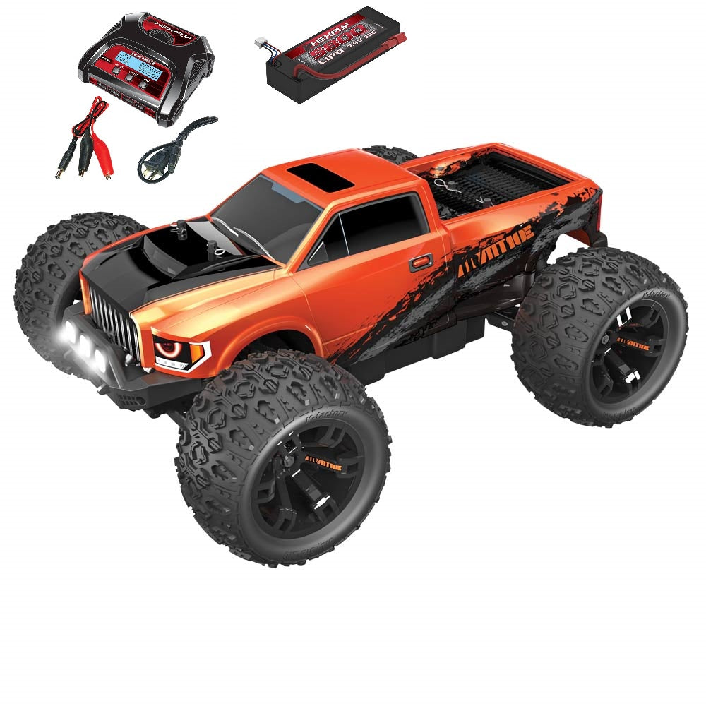 Team Redcat TR-MT10E 1/10 Scale Brushless Truck Pearl Orange Combo