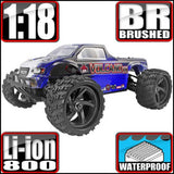 Redcat Racing 1/18 Volcano-18 Electric Monster Truck Blue